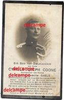 OORLOG GUERRE Cyrille Coone Stekene Rijkswacht Gendarmerie 1914 1918 En Overleden Aan Wonden Te Waregem 1920 Daels - Images Religieuses