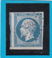 N° 14 A   PC 2703  ROCHEFORT-sur-MER  ( 16 )  CHARENTE INFre  - REF 12914 + Variété + Voisin - 1853-1860 Napoleon III