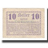 Billet, Autriche, Kirchheim, 10 Heller, Texte 1, 1920, 1920-08-01, TB, Mehl:FS - Oesterreich