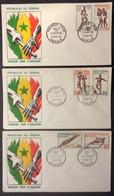 AFS4 Sénégal Jeux De L'Amitié 6 Timbres 11/4/1963 Dakar FDC Premier Jour  Lot 3 Lettre - Sénégal (1960-...)