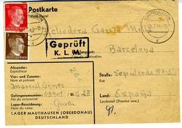 RARA TARJETA POSTAL DEL CAMPO DE GUSEN MAUTHAUSEN 1944  ELA 151 - 1931-50 Brieven