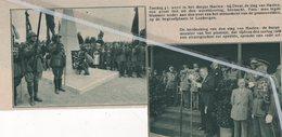 HAELEN - DIEST ..1934.. DE SLAG VAN HAELEN HERDACHT  / DE BURGEMEESTER SPREEKT EEN REDE UIT. - Oude Documenten