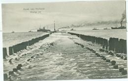 Hoek Van Holland 1910; Woelige Zee Met Veel  Stoomschepen - Niet Gelopen. Lees De Beschrijving! - Hoek Van Holland