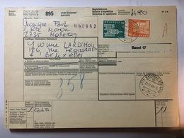 SWITZERLAND 1968 Bulletin D`expedition Malleray Bevillard To Bruxelles - Switzerland