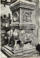Rimini - Cartolina Antica BASE DI UN PILASTRO DELLA CAPPELLA DI SAN SIGISMONDO, Cattedrale, Anni '50 - R24 - Sculture