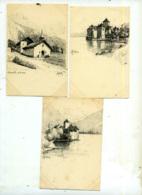 Chillon - 3 Cartes - VD Vaud