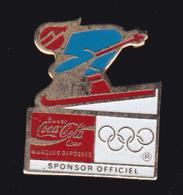 61228-Pin's-ski.Jeux Olympiques.coca-cola.... - Wintersport