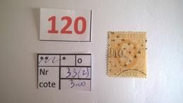 33 Oblitéré Vendu à 20% - 1865-1866 Profile Left