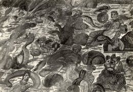 "Piazza Armerina - Cartolina Antica ""DIAETA"" Di Arione (dettaglio) Sec. III-IV D.C., Villa Imperiale, Anni '50 - R24 - Antichità"