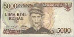TWN - INDONESIA 125a - 5000 5.000 Rupiah 1986 Prefix QYU UNC - Indonesia