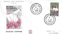ALGÉRIE FDC 1er JOUR 1965 - YT406 - Incendie Bibliothèque D'Alger - Algeria (1962-...)