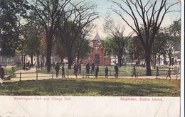 Carte 1908 Washington Park And Village Hall , Stapleton , Staten Island - Washington DC