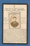 IMAGE GENEALOGIE FAIRE PART AVIS DECES RELIGIEUX MESSIRE REYNAUD MARSEILLE  1882 - Décès