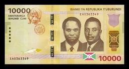 Burundi 10000 Francs Hippo 2015 Pick 54 SC UNC - Burundi