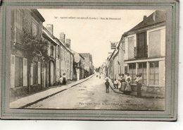 CPA - SAINT-REMY-de-SILLé (72) - Aspect Du Tabac-Hôtel Godard à L'angle De La Rue De Beaumont En 1917 - Altri Comuni