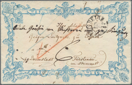 """Bayern - Vorphilatelie: 1847, """"ROSENHEIM"""" Fingerhutstempel Auf Kleinem, Wundervollem ZIERBRIEF An Gr - Duitsland"""