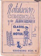 "Rotulacion Comercial  Cuaderno Nº 6  ""Sin Usar"" - Documentos Antiguos"