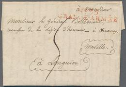 """Preußen - Vorphilatelie: 1807. L2 """"No. 35 / GRANDE ARMÉE"""" In Rot Auf Brief Aus Spandau Mit Komplette - Duitsland"""
