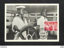 BELGIQUE - BELGIE - Carte MAXIMUM 1960 - INDÉPENDANCE DU CONGO - Un élève Fait Son Exercice à La Barre - Maximum Cards