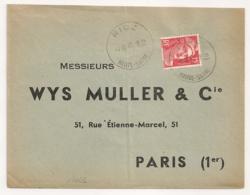 Horoplan RIOZ Haute Saone Pour PARIS. - 1921-1960: Modern Tijdperk