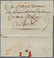 """Frankreich - Militärpost / Feldpost - Preußen: 1796, """"DON E ARM./SAMBRE ET NEUSE"""", Roter L2 Auf Falt - Duitsland"""
