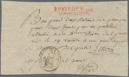 """Frankreich - Militärpost / Feldpost - Preußen: 1796, """"P.PAYE DON E.ARM/SAMBRE ET NEUSE"""", Roter L2 Au - Duitsland"""