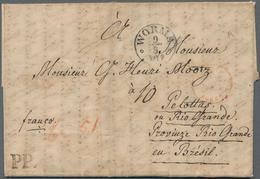 Thurn & Taxis - Vorphilatelie: 1849 Destination BRASILIEN: Kompletter Faltbrief Von Guppenheim Via A - Duitsland