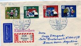 HATTINGEN MIT LUFTPOST PAR AVION WOHLFAHRTSMARKE DEUTSCHE BUNDESPOST 1962 FDC - NTVG. - [5] Berlin