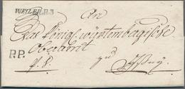 """Württemberg - Vorphilatelie: 1810, """"WEILER.R.3"""" Schwarzer Einzeiler + """"P.P."""" Auf Komplettem Faltbrie - Duitsland"""