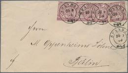 Norddeutscher Bund - Marken Und Briefe: 1869. MeF Von 4x 1/4 Groschen Auf Brief Mit Sauberem Preußen - North German Conf.