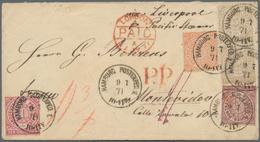 Norddeutscher Bund - Marken Und Briefe: 1868, Brief Mit ¼ Gr Violett, ½ Gr. Orange, 1 Gr. Rot Und Pa - North German Conf.