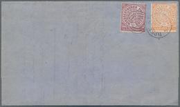 Norddeutscher Bund - Marken Und Briefe: 1868, NDP ¼ Gr. Violett Und ½ Gr. Orange, Beide Durchstochen - North German Conf.