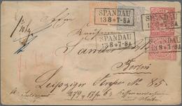 Norddeutscher Bund - Marken Und Briefe: 1869. Umschlag 1 Gr Mit 3-Farben-Zfr. 1/2, 1, 2 Gr Gezähnt A - North German Conf.