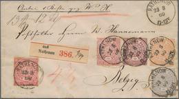 Norddeutscher Bund - Marken Und Briefe: 1869. Dekorative 4-Farben-Frankatur Aus 1 Gr (durchstochen), - North German Conf.