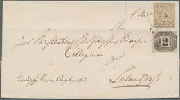 Norddeutscher Bund - Marken Und Briefe: 1871, Freimarke 5 Gr. Zusammen Mit Dienstmarke 2 Gr. Auf Fal - North German Conf.