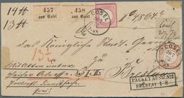 Norddeutscher Bund - Marken Und Briefe: 1872, Innendienst 10 Gr. Mit Federzug Und Sowie Gr. Schild 1 - North German Conf.