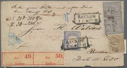 Norddeutscher Bund - Marken Und Briefe: 1872, Innendienst 30 Gr Im Paar Und 10 Gr Mit Federzug Und S - North German Conf.