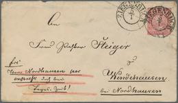 Norddeutscher Bund - Ganzsachen: 1868, 1 Gr Karmin Ganzsachenumschlag Von K2 ZIEGENRÜCK, 5/1, Per EI - North German Conf.