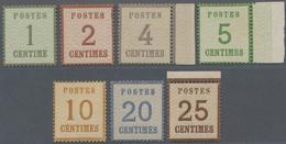 Elsass-Lothringen - Marken Und Briefe: 1870, 1 C. - 25 C. Kompletter Satz In Unterdrucktype I (Spitz - North German Conf.