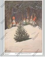 ZWERGE / Gnome / Dwarfs / Nani - Herzliche Weihnachtsgrüße, Künstler-Karte A.Roeseler - Autres