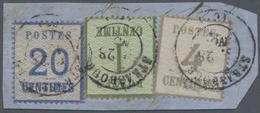 Elsass-Lothringen - Marken Und Briefe: 1870, 1 C. Olivgrün, 4 C. Violettgrau Und 20 C. Ultramarin, S - North German Conf.