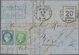 Elsass-Lothringen - Marken Und Briefe: 1871, Freimarke 20 C Mit Frankreich 5 C Napoleon Und 20 C Cer - North German Conf.