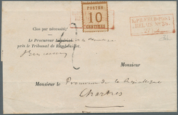 "Elsass-Lothringen - Stempel: ""K:PR:FELD-POST RELAIS No38 27/2"", Ra3 In ROT, Klarer Zweifacher Luxusa - North German Conf."