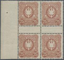 Deutsches Reich - Pfennig: 1887, 25 Pfennig Orangebraun, Spätauflage, Tadellos Postfrischer 4er-Bloc - Allemagne