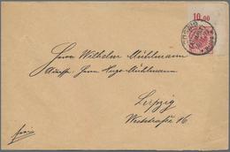 Deutsches Reich - Krone / Adler: 1893/1900, BOGENECKE RECHTS OBEN, Zwei Briefe Mit Portogerechter Ei - Allemagne