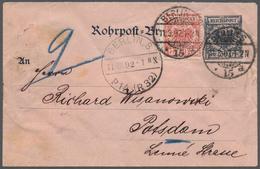 Deutsches Reich - Krone / Adler: 1892, Rohrpost-Umschlag 30 Pf Krone/Adler Mit Seltener Weiterfranka - Allemagne