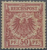 Deutsches Reich - Krone / Adler: 1889/1990, 50 Pf Dunkelbräunlichrot Verbreiterte Marke Ungebraucht - Allemagne