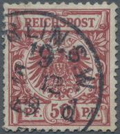 Deutsches Reich - Krone / Adler: 1889, 50 Pfg Bräunlichkarmin, Einwandfreies, Gestempeltes Stück, Do - Allemagne