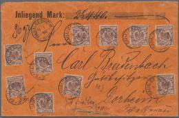 Deutsches Reich - Krone / Adler: 1896, 50 Pfg. Krone/Adler, Zehn Werte Auf Wertbrief 96 Gr. über 284 - Allemagne