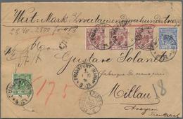 Deutsches Reich - Krone / Adler: 1890, 50 Pfg. Braunrot, 3 Werte Zusammen Mit 5 Pfg. Und 20 Pfg., Po - Allemagne